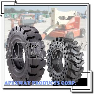 aerial lift solid tire