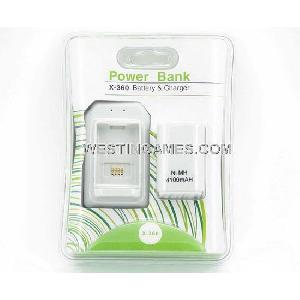 xbox360 4100mah power bank battery charger