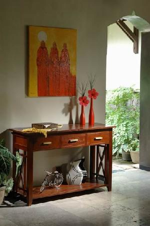 console table mahogany wood