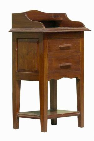 mahkota light stand 2 drawers mahogany wood