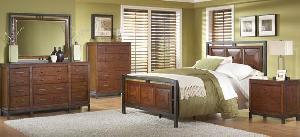 panel bedroom solid mahogany wood
