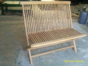 horis teak folding bench 2 seater garden patio terrace hotel furniture
