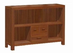 indoor furniture library cabinet 3 drawers open book case mahogany indonesia