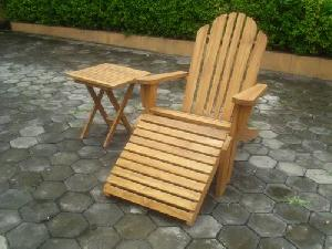 teak adirondack stool side table indonesia knock lazy chair relax