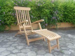 teak bali decking chair five position