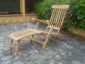 teak bali steamer five position chair decking hotel swimming pool beach garden