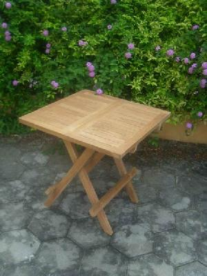 teak slat picnic table folding garden home hotel