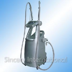 continuously adjustable vacuum suction ultrasonic cavitation body massage equipment