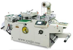 adhesive label logo die cutting machine