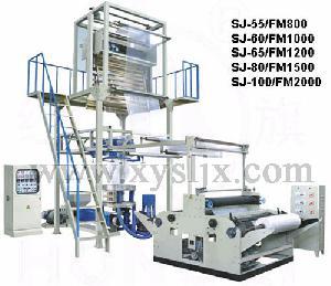 lifting rotary die head film blowing machine pe heat shrink