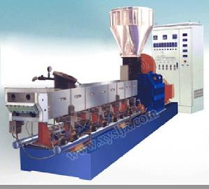 screw pe pp abs masterbatch extruding recycling machine