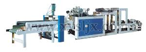 channels heat sealing cutting line plastic film bag machine