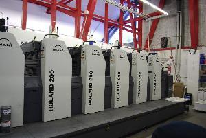 offset machine roland r 206 six colour printing 2007