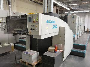 offset machine roland r 505 five colour printing 2000