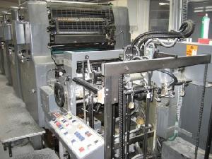 offset printing machine heidelberg mov h 4 col 1985