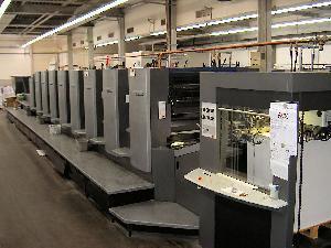 offset printing machine heidelberg sm eight colour coater 2004