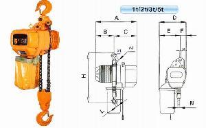 5t electric chain hoist