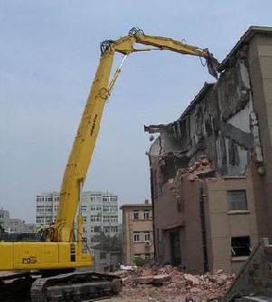 excavator demolition reach