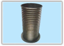 cylindrical sieving mesh