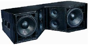 dual 12 line array loudspeaker