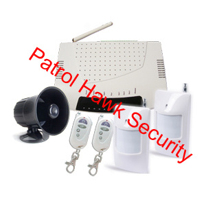 patrol hawk security sms control alarm system