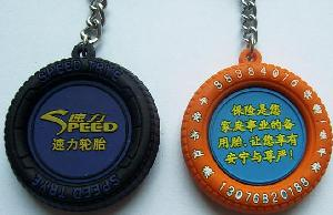 promotional pvc tire keychains