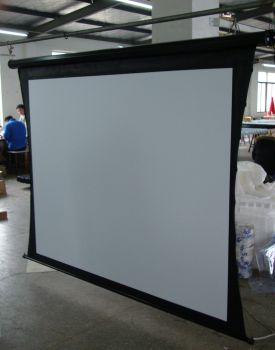 projection screen electric manual tripo floor fixed frame tab tension