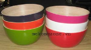 lacquered bamboo bowl