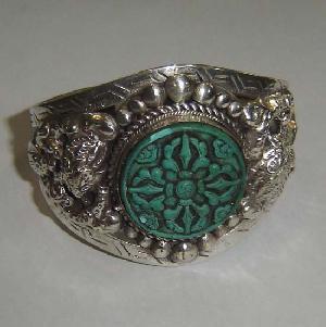 tibetan turquoise dorje bracelet