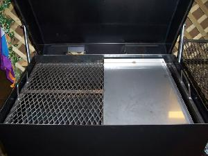 expanded metal tray charcoal
