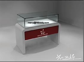 wholesales wooded jewellery showcases lighting boxes logo