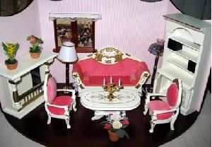 miniature furniture flower doll house