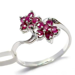 sterling silver ruby ring j2 52 514h