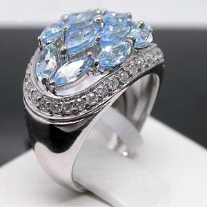 sterling silver blue topaz ring y00082136