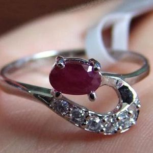 factory 925 silver ruby ring j0405138h