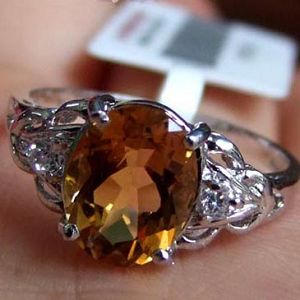 manufacturer sterling silver citrine ring j0709177j