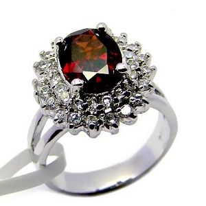 925 silver garnet ring j0709174s