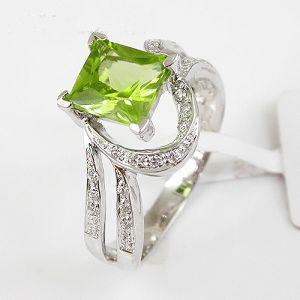 925 silver olivine ring y00085632