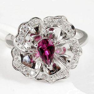 925 silver tourmaline ring