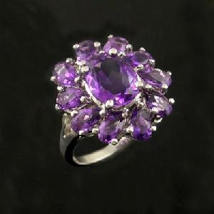 sterling silver amethyst ring olivine necklace sapphire earring bracel