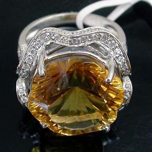 y00082228 925 silver citrine ring