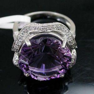 sterling silver amethyst ring bracelet ruby