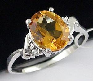 Sell Sterling Silver Natural Citrine Ring, Garnet Bracelet, Amethyst Earring, Rainbow Stone Ring