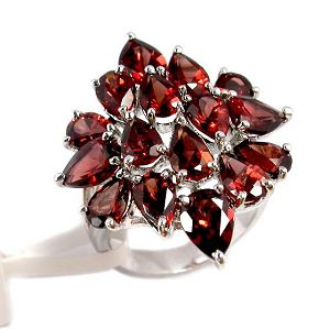 sterling silver garnet ring j0406450s
