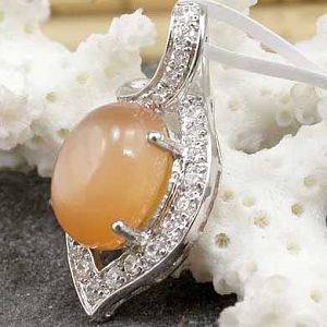 sterling silver gemstone jewelry wholesale 925 moonstone pendant