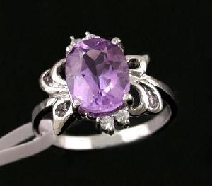 wholesale 925 silver amethyst ring j070973z