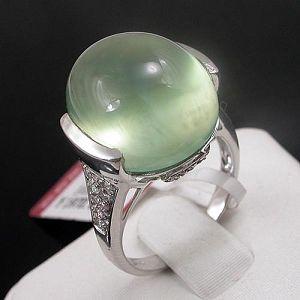 wholesale 925 silver prehnite ring