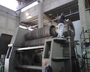 3 rolls pinch plate bending machines 3100mm x 110 80mm