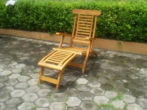 horizontal slats steamer decking 5 position chair teak outdoor garden furniture indonesia