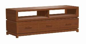 minimalist modern tv stand cabinet 3 drawers teak mahogany indoor furniture